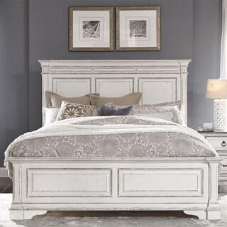 Abbey Park Antique White Queen Panel Bed