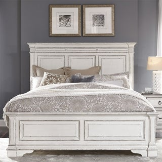 Abbey Park Antique White King Panel Bed
