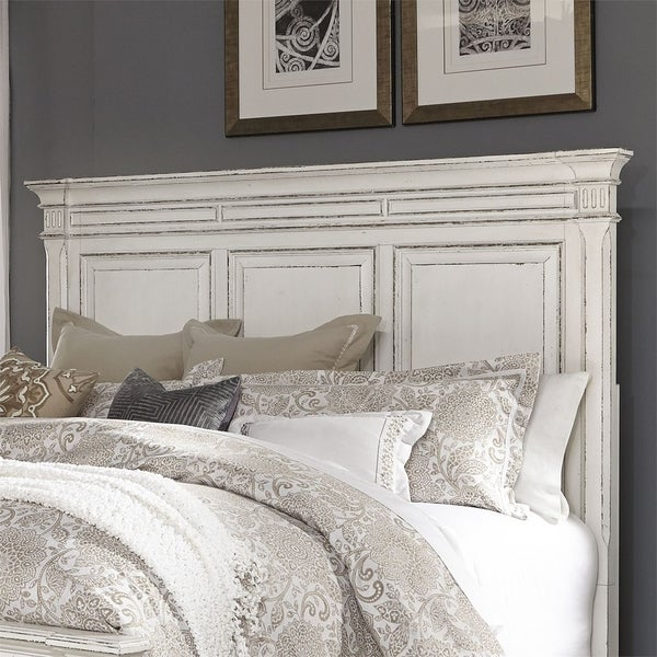 Bedroom Sets Clearance Free Shipping: Shop Abbey Park Antique White Queen Panel Headboard