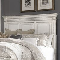 Abbey Park Antique White King Panel Headboard