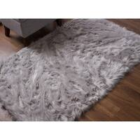 Serene Silky Faux Furry Sheepskin Area Rug