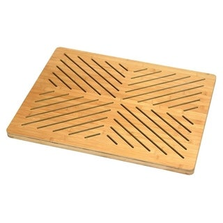 Oceanstar Bamboo Floor and Bath mat with Non-Slip Rubber Feet - 21 x 34