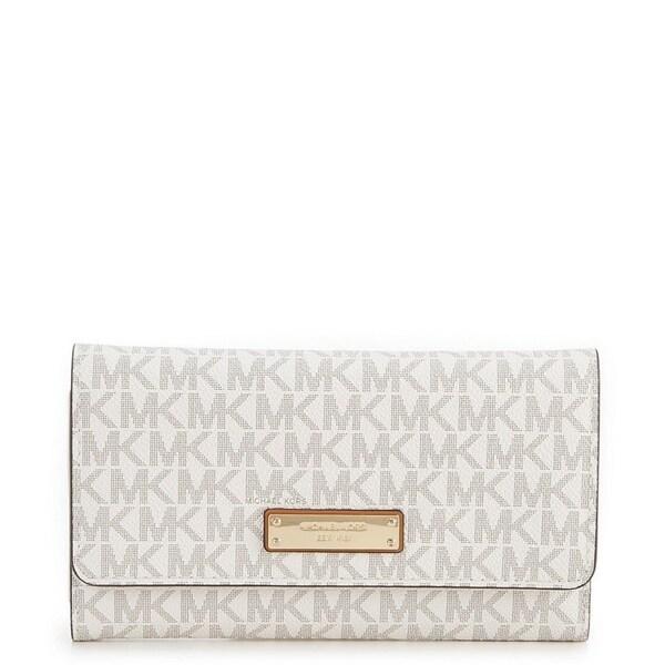 d3763c34b567 Shop MICHAEL Michael Kors Signature Large Trifold Wallet - Free ...