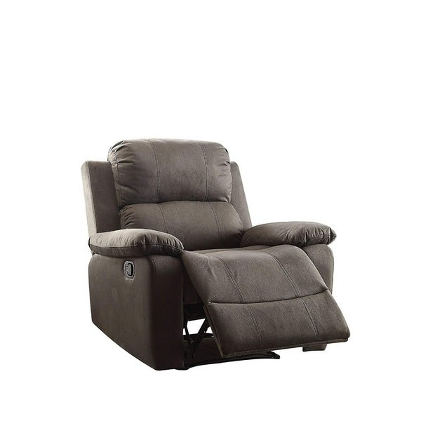 Contemporary Style Upholstered Recliner With Cushioned Armrests Charcoal Gray Free Shipping Today 25681793