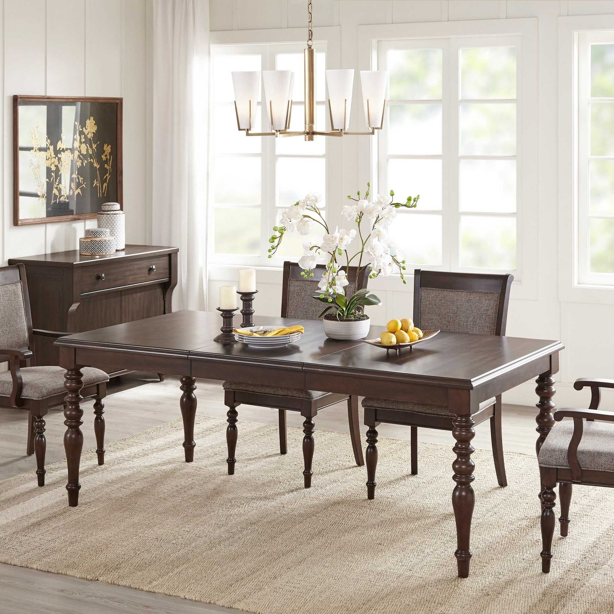 Madison Park Signature Beckett Morocco Brown Extension Dining Table -  morocco brown - 58\