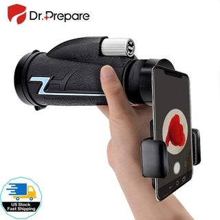 Monocular Telescope with Smartphone Holder Adapter 16x50 High Power BAK-4