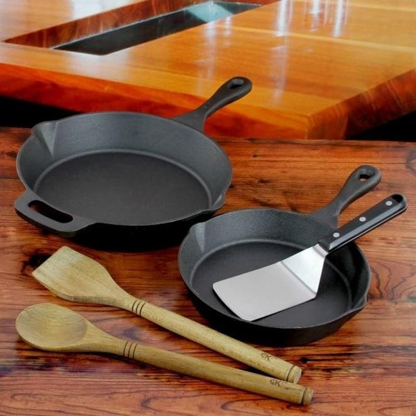 Kitchen Skillet: Shop Craft Kitchen 5-Piece Cast Iron Skillet Set
