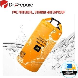 Waterproof Dry Bag 10L with Detachable Shoulder Strap for Kayaking, Boating