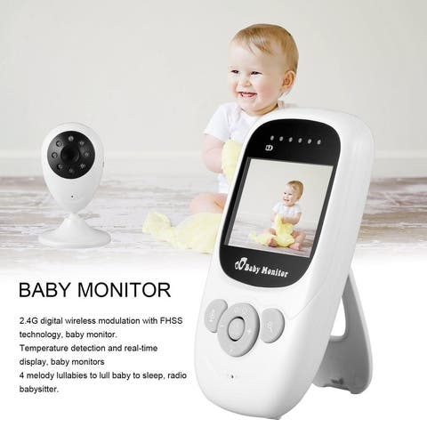 2.4GHz Wireless Digital LCD Color Baby Monitor Camera Melody 2X Security