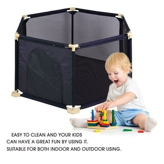 Portable Indoor Outdoor Playard Baby Safety Crawling Guardrail Game Fence