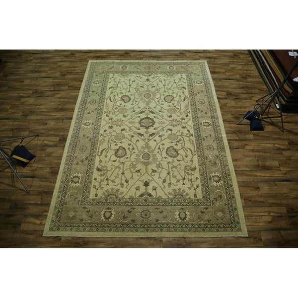 Shop Classical Kashan Medallion Hand Knotted Persian Wool: Shop Classical Oushak Pakistani Hand Knotted Traditional
