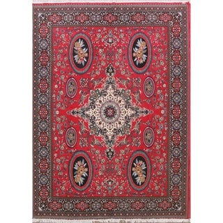 "Soft Plush Geometric Kerman Traditional Persian Area Rug - 13' x 9'6"""
