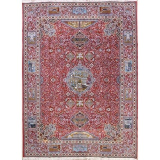 "Traditional Dynasty Historical Soft Plush Kashmar Persian Area Rug - 13'1"" x 9'8"""