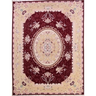"Soft Plush Floral Tabriz Persian Traditional Area Rug - 13'3"" x 9'7"""