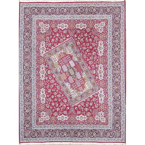 "Traditional Soft Plush Floral ClassicalKashmar Persian Area Rug - 12'4"" x 9'7"""