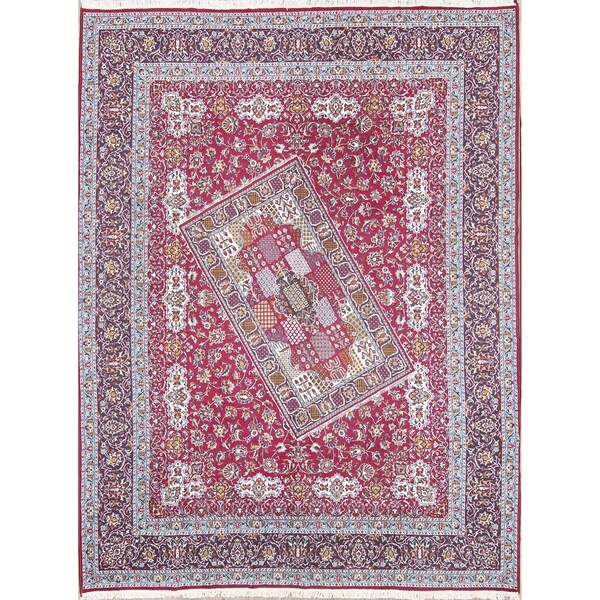 """Traditional Soft Plush Floral ClassicalKashmar Persian Area Rug - 12'4"""" x 9'7"""""""