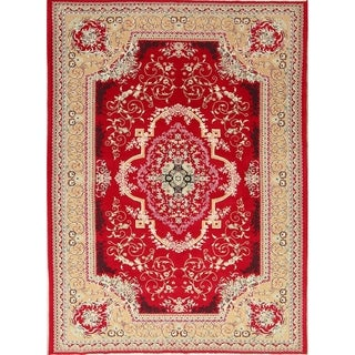 "Soft Plush Floral Kerman Persian Oriental Area Rug Wool and Acrylic - 9'7"" x 6'6"""