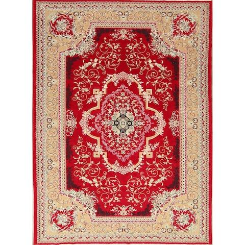 "Soft Plush Floral Kerman Persian Oriental Area Rug Wool and Acrylic - 9'7"" x 6'6"""