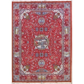"""Soft Plush Pictorial Traditional Kashmar Persian Area Rug - 13'2"""" x 9'8"""""""