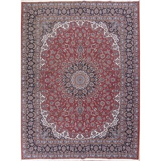 "Soft Plush Floral Kashan Persian Area Rug Acrylic Carpet - 12'9"" x 9'8"""