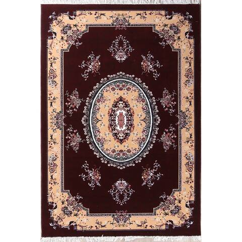 "Soft Plush Floral Tabriz Persian Oriental Area Rug - 9'8"" x 6'8"""