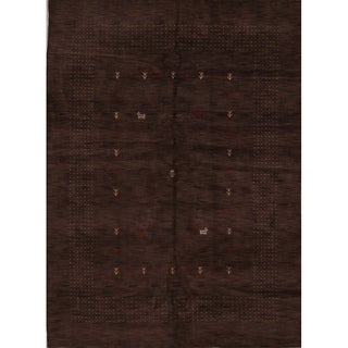 "Gabbeh Solid Area Indian Area Rug Oriental Handmade Wool - 11'2"" x 8'0"""