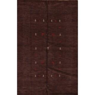 "Gabbeh Oriental Solid Area Rug Handmade Wool Carpet - 9'9"" x 6'7"""