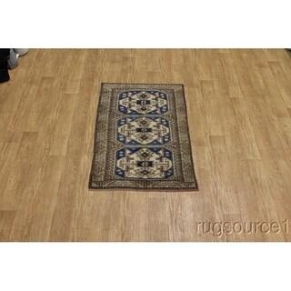 "Kazak Vintage Handmade Kazzak Traditional Oriental Area Rug - 5'4"" x 3'4"""