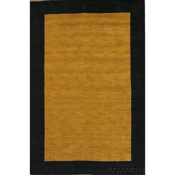 "Gabbeh Classical Eastern Hand Made Wool Area Rug Orange Oriental - 9'10"" x 6'5"""