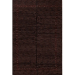 """Modern Gabbeh Indian Oriental Area Rug Hand Knotted Wool Tribal - 9'9"""" x 6'7"""""""