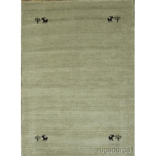 """Porch & Den Steen Hand-knotted Wool Gabbeh Tribal Area Rug - 6'4"""" x 4'7"""""""