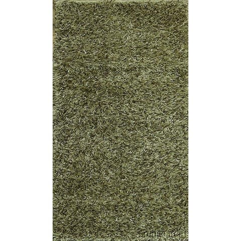 "Contemporary Shaggy Shag Traditional Oriental Rug Hand Made - 4'9"" x 2'7"""