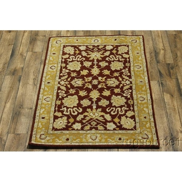 """Hand Made Oushak Agra Traditional Oriental Floral Area Rug - 6'2"""" x 4'2"""""""