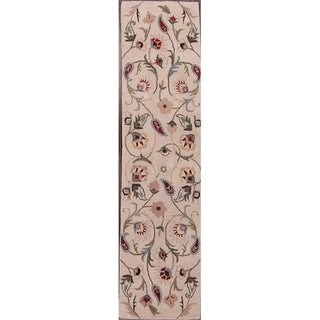 "Copper Grove Rizokarpaso Floral Oushak Kashan Hand Tufted Wool Indian Oriental Rug - 9'9"" x 2'6"" runner"