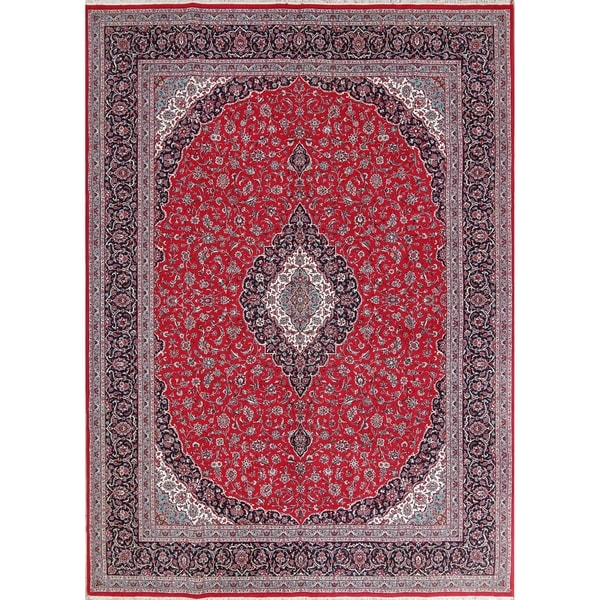 "Traditional Floral Kashan Persian Oriental Area Rug - 13'2"" x 9'8"""