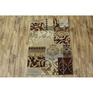 "Gracewood Hollow Shkliar Hand-tufted Floral Wool Area Rug - 6'1"" x 4'3"""