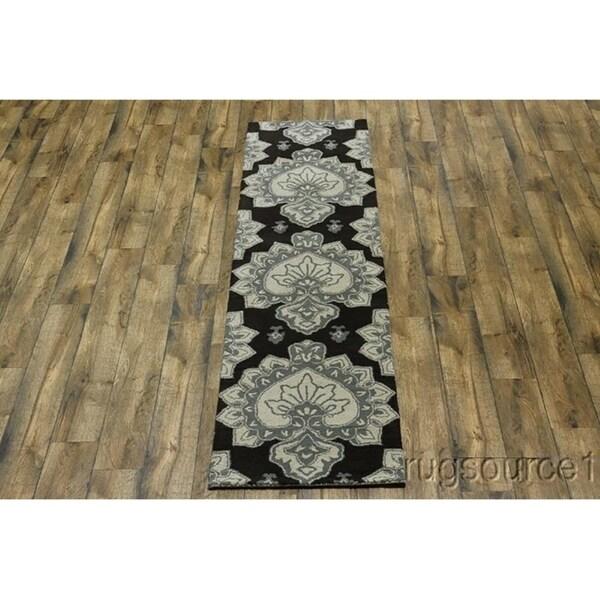 "Oushak Hand Tufted Agra Traditional Oriental Rug Beige - 9'9"" x 2'6"" runner"