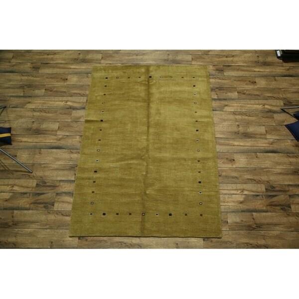 "Gabbeh Persian Hand Made Tribal Area Rug Oriental Carpet - 8'0"" x 5'8"""
