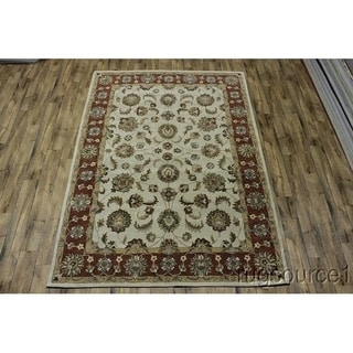"Floral Hand Made Oushak Indian Traditional Oriental Area Rug - 10'10"" x 8'0"""