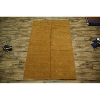 """Gabbeh Genuine Wool Oriental Area Rug Hand Knotted Orange - 9'11"""" x 6'6"""""""