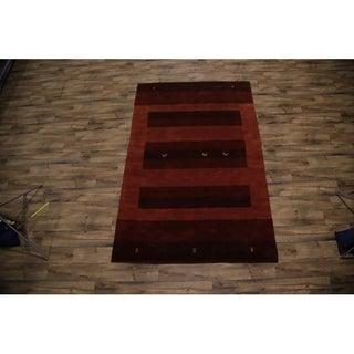 "Gabbeh Indian Oriental Stripe Area Rug Handmade Wool - 9'10"" x 6'6"""