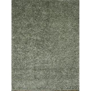 "Porch & Den Beckman Grey Hand-knotted Wool Shaggy Oriental Area Rug - 7'5"" x 5'6"""