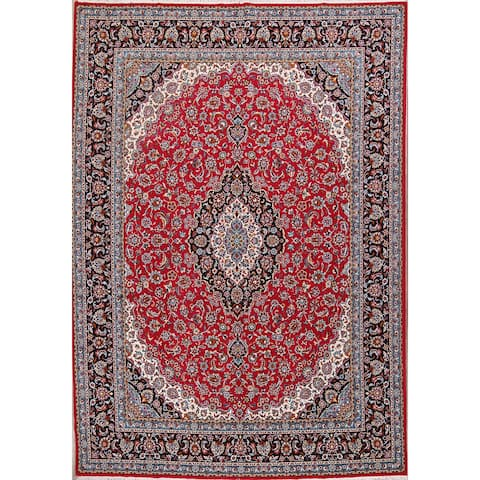 """Soft Plush Floral Kashmar Persian Large Acrylic and Wool Area Rug - 13'3"""" x 9'5"""""""