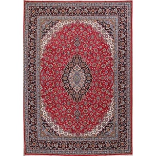 "Soft Plush Floral Kashmar Persian Large Acrylic and Wool Area Rug - 13'3"" x 9'5"""