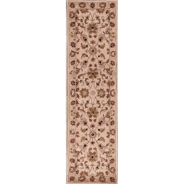 "Copper Grove Juelsminde Medallion Oushak Kashan Hand-tufted Wool Oriental Rug - 9'7"" x 2'6"" runner"