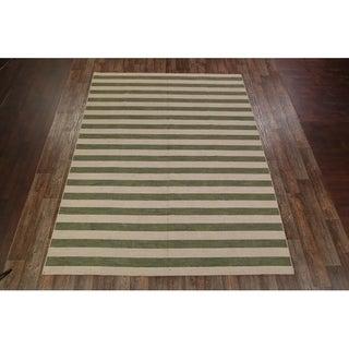 "Gabbeh Oriental Handmade Wool Area Rug Stripe Carpet - 12'1"" x 9'2"""