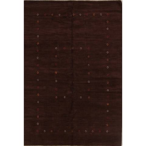 "Handmade Wool Solid Area Rug Indian Oriental Gabbeh - 9'11"" x 6'7"""