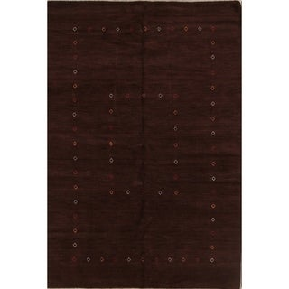 "Handmade Wool Solid Area Rug Indian Oriental Gabbeh - 9'11"" x 6'7"""