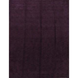 "Strick & Bolton Francesco Purple Handmade Wool Area Rug - 9'0"" x 12'0"""