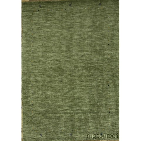 Porch & Den Stanvick Green Hand-knotted Wool Gabbeh Area Rug - 6'6 x 9'8